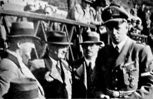 Reichl német csoportvezető a legöregebb német céllövőkkel a magyar-német lövészversenyen