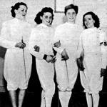 A BBTE győztes női tőrcsapata - Barta, Zsabka, Buchwald, Hollerbachné