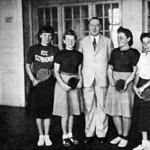 A Jacoby-versenyen résztvevő hölgyek - Csovich, Farkas, dr. Beszterczey Jacoby Roland a MOATSz elnöke, Kolozsvári, Ábrahám