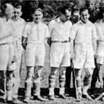 Az MHC csapata - Torbágy, Nobel játékvezető, Herrmann, dr. Rudán, Goszleth, Cerva, gróf Révay, Bogschütz, Tipold, dr. Margó, Sűrű (elöl)