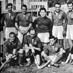 A BBTE győztes csapata - Ülnek Kovács, Papp, Berkes, állnak Háray, Muray, Fenessy, Székely, dr. Bikár, Turcsányi, Liszkai, Dengl