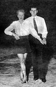 A páros korcsolyázás bajnokai Szekrényessy Piroska és Szekrényessy Attila dr.