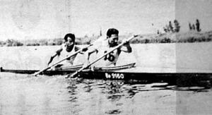 Az 1000 m-es verseny győztes kettőse - a Balatoni-Nagymajtényi együttes
