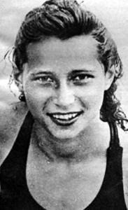 Novák Ilonka, a 100 méteres gyorsúszás bajnoka