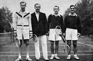 A 3-ik helyezett MAFC csapata - Macskási, Csink, Simon, dr. Ferenczy