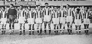 A Nagyváradi AC csapata - Kovács I., Solymosi, Demény, Sárvári, Kovács II., Domján, Krasznai, Tóth M., Záborszky, Juhász, Bodola