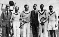 A BBTE bajnokcsapata - Tornyai, vitéz Bánó, dr. Mayer, dr. Besztercey-Jacoby Roland, Asbóth Kis