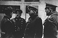 Középen List vezértábornagy, a Görögország ellen induló balkáni haderők főparancsnoka