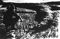Sárkány alakú a texasi sivatagban ez a másfél kilométer hosszú lávatömeg