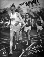 Gunder Hagg a Képes Sport címlapján