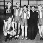 Az Elektromos csapata - Méray, Rákossy, Fodor, Czédli intéző, Ujváry elnök, Papp, Birtalan, Cséfay (ülve)