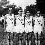 A BBTE 4x1500 méteres bajnokcsapata - Szilágyi, Harsányi, Lendvai és Kelen