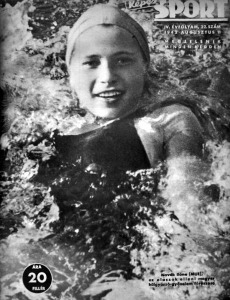 Novák Ilona a Képes Sport címlapján