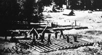 Fürdőház építése amerikai C.C.C. munkatáborban