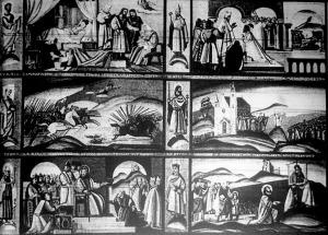 Jelenetek Szent István életéből. (Molnár C. Pál festményt)