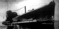 """A """"Negbelli"""" nevű olasz tengeralattjáró, amely az egyiptomi partok előtt elsüllyesztett egy angol csatahajót."""