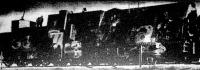 Zsákmányolt szovjetorosz páncélvonat. A vonatot a németek légelhárító-ágyúval tették harcképtelenné.