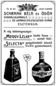 Schrank Béla és Ödön likőrgyáros plakátja (http://www.hidlap.hu/)