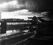 Uszály a soroksári Dunaágban az Asboth-rendszerű légcsavar-készülékkel