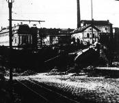 Szabadka a szerbek kivonulása után - akik felrobbantottak egy vasúti viaduktot.