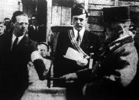 Vitéz József királyi herceg tábornagy a mérnökifjúság háza alapkőletételén