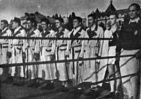 Az magyar csapat - Ősze, Jászai, Tamási, Torma II., Marton, Darai, Miriszlai, Hudák és Dobránszky szövetségi szakfelügyelő