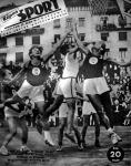 A Magyarország-Bulgária kosárlabdamérkőzés a Képes Sport címlapján