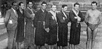 A MAC csapata - Vízváry Károly szakosztályvezető, Csuvik, Kalapos, Szívós, Bartalis, Fábián, Tolnai dr., Mezey dr..jpg