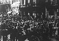 Az olasz nép további sorsát meghatározó egyezmény ünneplése Rómában