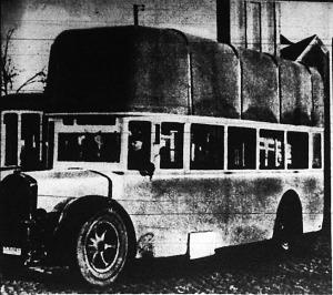 Gázautóbuszok Frankfurtban. A