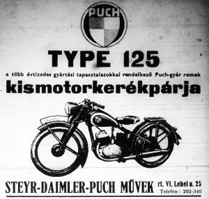 Kismotorkerékpár hirdetése (a korábbi évekből, amikor még üzemanyagkorlátozás nem volt)