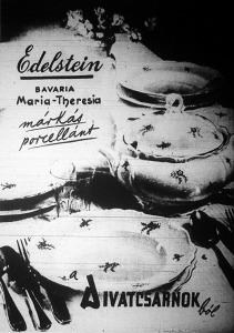 Edelstein-porcellán hirdetése