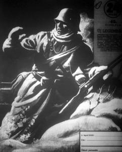Katona a hóban