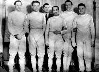 A BEAC párbajtőr bajnokcsapata - Rittvay dr., Rerrich dr., Nedeczky dr., Bay dr., Kovács és Berzsenyi dr..jpg