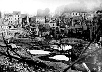 A franciaországi Saint Lo 1944 júliusában