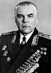 Malinovski marsall, akinek nagy szerepe volt Magyarország szovjet megszállásában, amit felszabadításnak is hívtak, hívnak