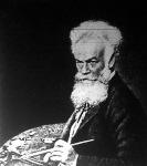 Munkácsy Mihály önarcképe 1896-ból, 52 éves korából