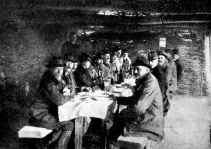 József főherceg és vadásztársai ebédje a kunyhóban