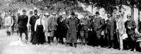 József Ágost főherceg a vadásztársaság tagjaival