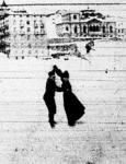 Korcsolyázó pár a davosi jégpályán