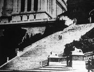 Az Ara-coeli templomhoz vezető lépcsőzet Rómában