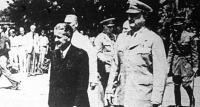 Tildy Zoltán köztársasági elnök és Key altábornagy, az amerikai katonai misszó vezetője