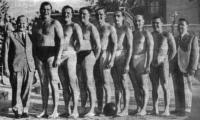 Az UTE vízipólócsapata - Pataki, Holba, Bozsi, Szigeti, Schuk, Sárkány, Vágó II., Engerl.jpg