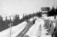 Vasut állomás a Csorba-tónál