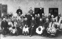 A községi elöljáróság. Mezőkövesd (Borsod vm), 1904