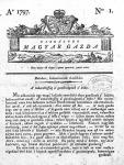 A Vizsgálódó Magyar Gazda első száma (1797).