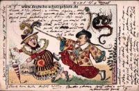 Boxerek és  európaiak - korabeli karikatúra