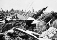 Földrengés okozta pusztulás