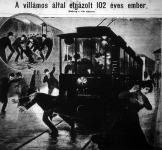 A villamos által elgázolt 102 éves ember