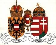 Az osztrák és a magyar címer a kiegyezés után
